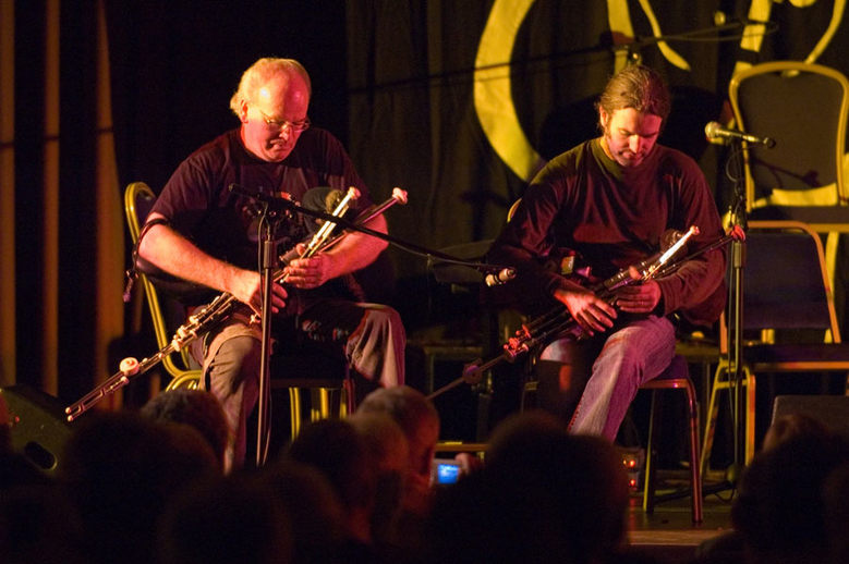 Brian Vallely, uilleann pipes, & others, 2005 / Paul Eliasberg