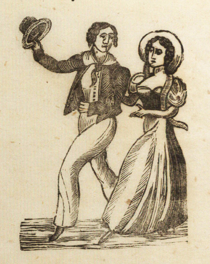 Courting too slow, woodcut