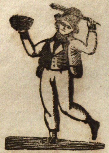 Potteen Paddy is my name, woodcut / written by J. H. Doran