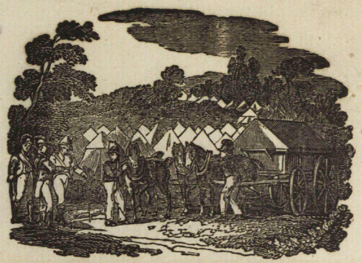 Highland soldier, woodcut