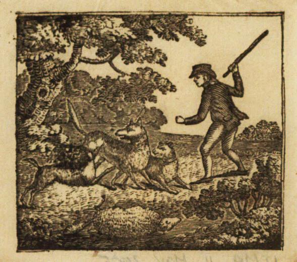 The minstrel boy, woodcut
