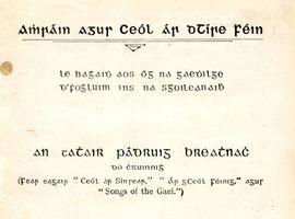 Fr Pádruig Breathnach, Amhráin agus Ceól ár dTíre Féin 1–2, 1923