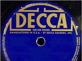 78 rpm recordings of The Comerford Trio on the Decca record label