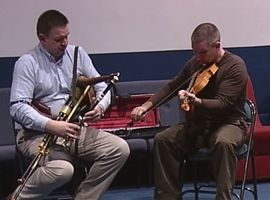 Robbie Hannan & Dermot McLaughlin at the William Kennedy Piping Festival 2006