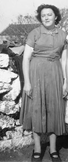 Bairbre Quinn at home in Cill Mhuirbhigh, Árainn, 1950s, courtesy of Mary Conneely / [unidentified photographer]